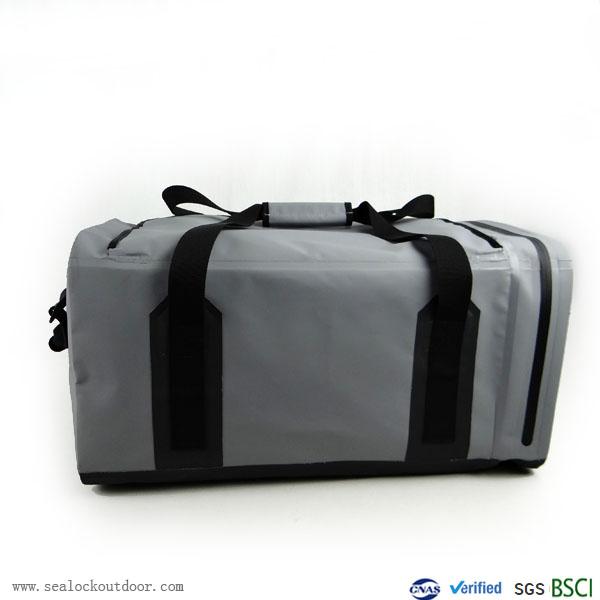 Gray Waterproof Duffle Bag 60Liter
